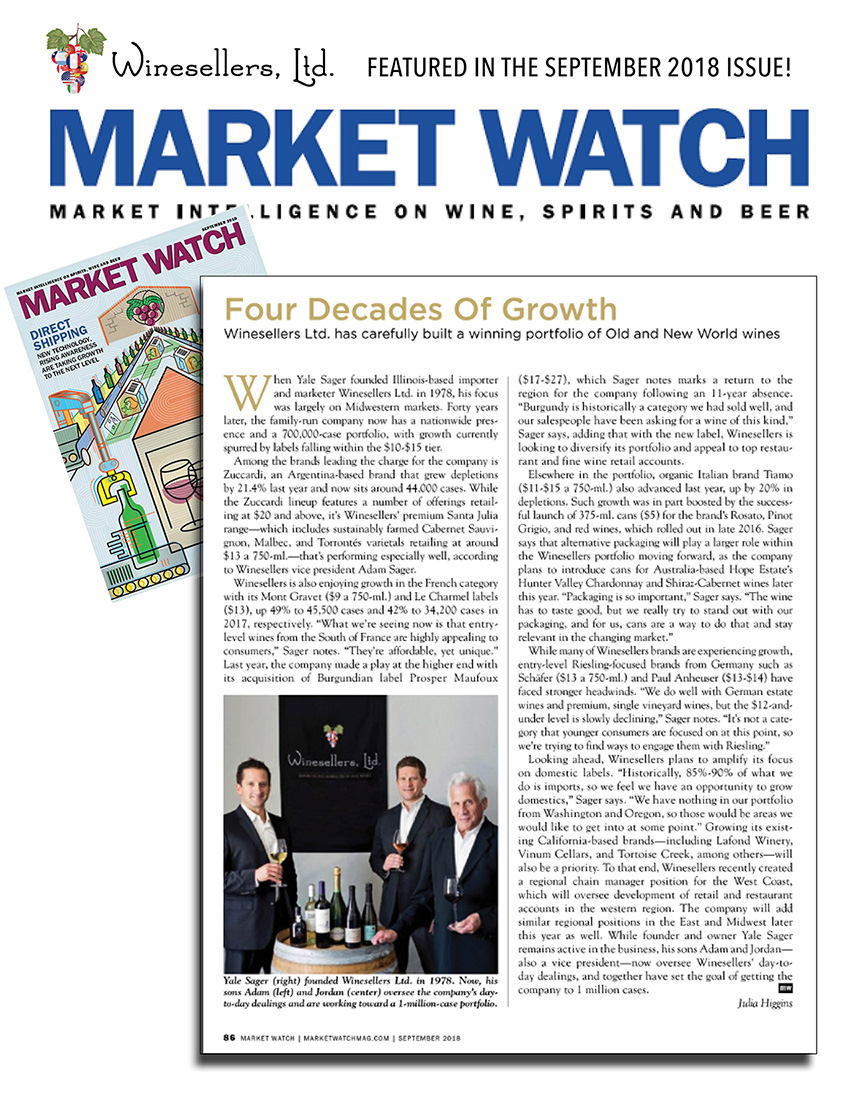 Winesellers, Ltd. Presents Four Decades of Growth